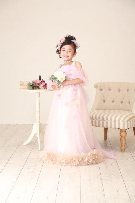 七五三 ピンクドレス 久喜店